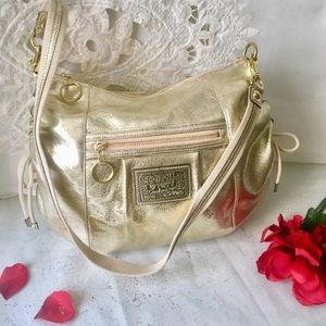 NWOT✨COACH✨POPPY Limited Metallic Leather Purse